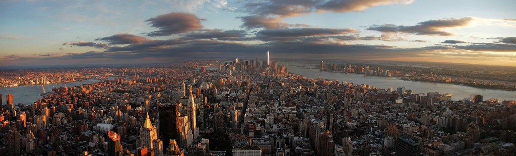 Vista aérea panoramica New York